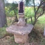 restauration croix de chemin en mollasse